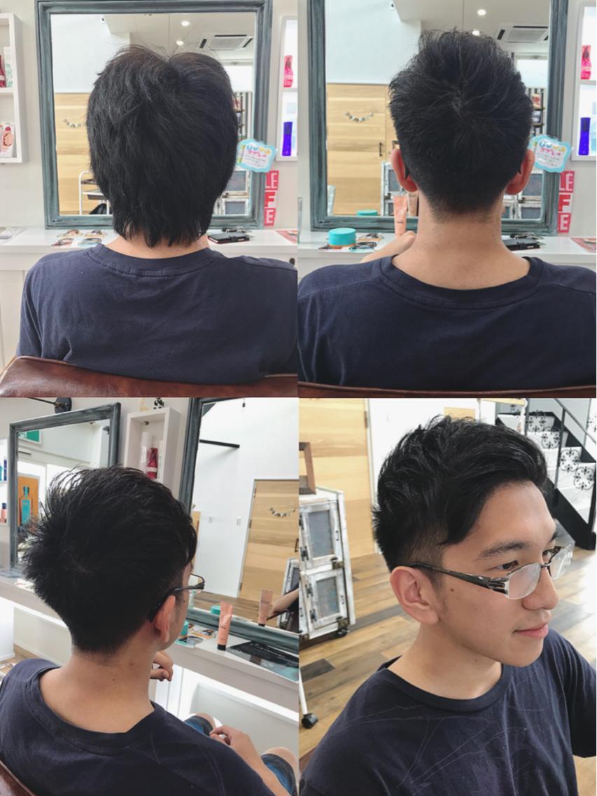 大学生 髪型 メンズ ワックスなし ショート