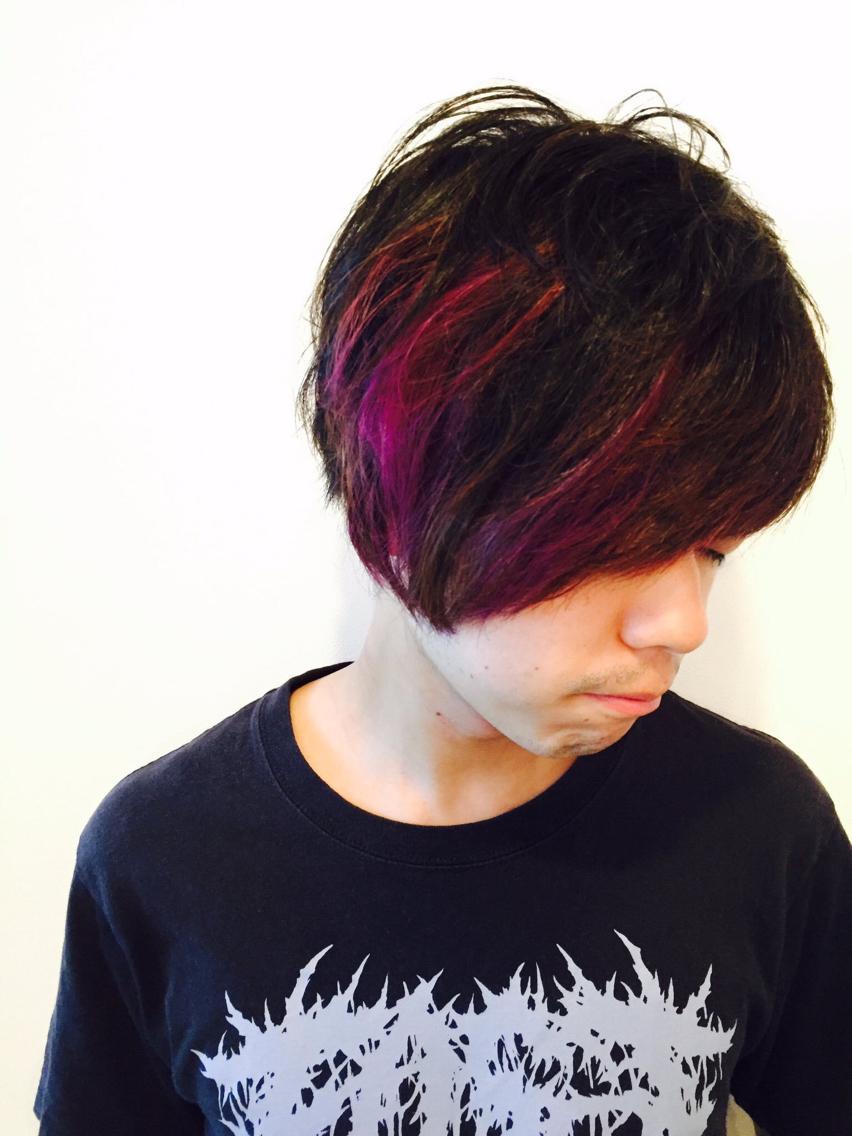 ヘアカラー メンズ 紫