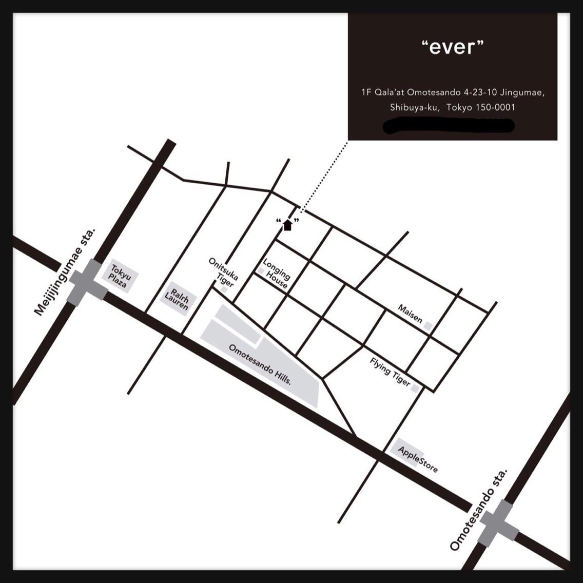 """ever""表参道"