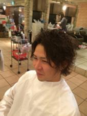 メンズパーマ☆ Lee東大阪所属・佐藤史芳のスタイル