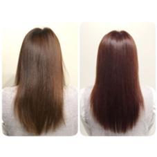 色落ちしてしまった髪色に 秋っぽいピンクバイオレット 遠藤悠大のスタイル