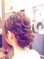 ヘアアレンジは 2160円から♡ BEL POSTO hair所属・吉岩佳亮のスタイル