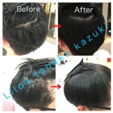 メンズも縮毛矯正 Before→After  自然で柔らかい縮毛矯正  Liloa田中一輝 仕上げにブローやアイロンは一切なし  検索→田中一輝縮毛矯正 縮毛矯正髪質改善プロまずブログ見て下さいのスタイル