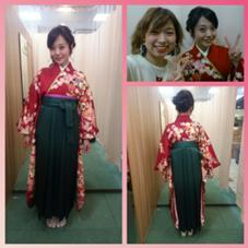 【congratulation!】卒業式【袴の着付け¥8000(+tax)】  着物や袴、浴衣などの和装の着付けも承ってます! こちらは時間問わずご案内させて頂きます✨✨ Trico by FACE。所属・みもとようこのスタイル