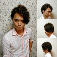 ツーブロックミディアムハードパーマスタイル Hair Salon Kaming所属・中村真也のスタイル
