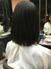 セミロングから5〜6cm程cut  ありがとうございました♪ Hair&Beautymiq西新井店所属・岩永あかりのスタイル