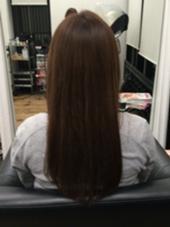 サラサラストレート! これからも伸ばしていくために ダメージ部分をとって綺麗な髪に♡ wizard   femmes所属・古川結香のスタイル