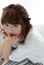 カチューシャ編み込みアレンジ♡ EARTH 自由が丘店所属・斉藤あやのスタイル