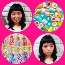 前髪は短く個性的に。 雰囲気のあるセミロングスタイル☆ TRUST所属・五十嵐友里のスタイル