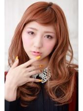 癖感ある大きめカール❗️ 長い前髪をショート風にアレンジしました⭐️ aile  totalbeauty salon 富雄店所属・芝井達紀のスタイル