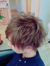 ダブルブルージュカラー 束感カット hair design West Side STANDARD所属・IkeshitaDaisukeのスタイル