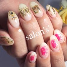 ♡アシンメトリーネイル ♡塗りっぱなしネイル ♡ホイルアート  nail&facial salon所属・shiori✴︎のフォト