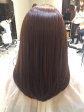 秋にピッタリのショコラブラウン✨ 髪にツヤが出て綺麗に見えます XELHA所属・石橋千紘のスタイル