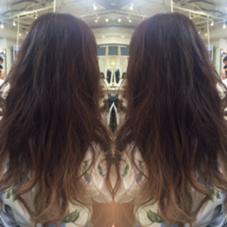 ベージュ系のグラデーションカラー 毛先は一回ブリーチで出来ます EIGHT渋谷本店所属・長畠俊輔のスタイル