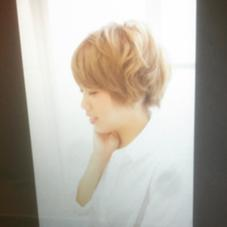 カジュアルショートボブ ホワイティベージュ lee 阪急十三店所属・Hair&MakeLEE 大岡亮介のスタイル