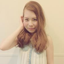 ゆるふわにハイトーンカラーで夏の可愛い女子❤︎ 岩男かすみのスタイル
