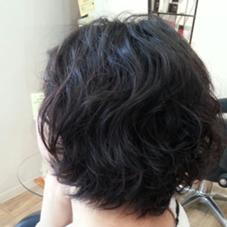 ゆるふわパーマてセットしやすいスタイル 黒髪のショートでも動きがでて軽やかな感じに見えます F-a  firm  faith所属・有田健太のスタイル