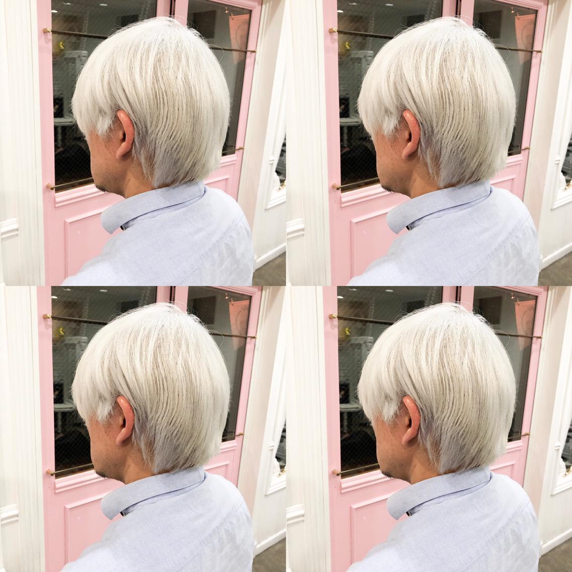 #ショート #カラー men's ・perfect White・ ✳︎10800円〜✳︎ ✳︎minaでブリーチ3〜5回出来れば綺麗なホワイトヘアを作れます👻 ✳︎ ✳︎ダメージが強いとブリーチが出来ない場合もあるのでご了承ください ✳︎ムラシャンはエンシェールズのシャンプーを薄めて使うのがオススメ🧖🏻♀️ ✳︎ ✳︎黒染めや縮毛、デジパをしていなくてダメージがひどくなければおおよそ4〜5回ブリーチで出来ます🦄✳︎ 最後まで可愛く仕上げます🇰🇷 ✳︎ お店の近くにあるティファニーカフェで映えな写真もプレゼントします🦄 ✳︎ ✳︎黒染め履歴、ダメージが強い方はでホワイトにはならないです💦  #原宿#ハイトーンカラー#シルバーカラー#ヘアカラー#ネイビーカラー#ホワイトカラー#ブロンドヘアー#アッシュ#ケアブリーチ#ブロンドカラー#派手髪#ラベンダーカラー#ミルクティーカラー#アッシュ#ミルクティーベージュ#ブルージュ#グレージュ#ピンクカラー#インナーカラー#ハイライトカラー#グラデーションカラー#bts#seventeen#twice ✳︎ ✳︎ ✳︎
