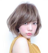 カラー ショート パーマ ミディアム ふんわり内巻き大人綺麗なショートボブ☆sherry