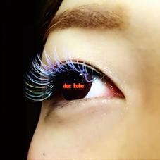 フルカラー アナ雪風❅*॰ॱ 全体的にアイスブルーとパステルパープルMix 目尻にはアクアブルーにロイヤルミルクティーとオレンジを数本ずつお付けさせて頂いております♪ Frill Eye Beauty 神戸元町店所属・FrillEye Beautyのフォト