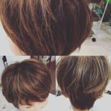 マダムヘアー、グレイカラー(白髪染)なハイライトとローライトで束感、軽さを… R's hair所属・福田竜士のスタイル