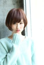 長めバングのショートボブで小顔になっちゃいましょ☆ ルアール渋谷所属・ルアールタケのスタイル