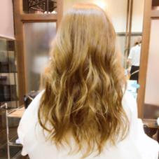 外国人風 Hair Color✨ 少し動きが欲しい方にお勧めレイヤースタイル 最後はコテでmix巻き♡ I-FLAP所属・芳賀優輝子のスタイル