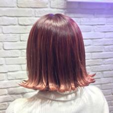 ラインを残したパッツンボブ☆ miel hair&spa所属・飯田さきのスタイル