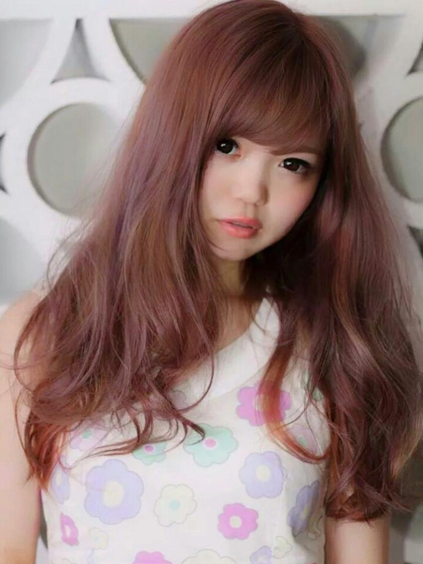 #カラー #ロング ピンクパープル(ザ・大橋ピンク!)