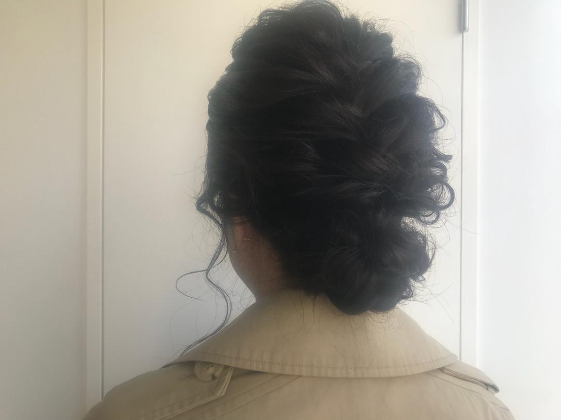 #ヘアアレンジ 編み編みルーズまとめ髪!! お呼ばれに是非✨ 多様にデザインがございますのでご相談下さい!!