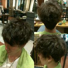 ランダムな動きのミックスパーマ・カラー コバルトアッシュ mazele hair 所属・今村響祐のスタイル
