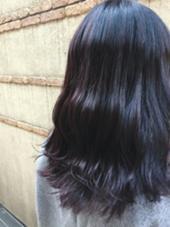 Dark violet ダークトーン,ブラックベースに色味をプラスしたカラー♪光加減で見え方がかわるのですごくかわいいです:D BEBE hair所属・NATSUKI.のスタイル