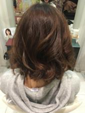 アフタァーーー ボブスタイルに明るめのマットで染めました(^O^)  hair&make earth所属・吉岡碧のスタイル