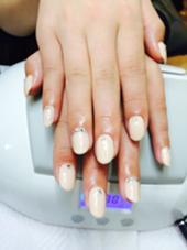 ワンカラー2000円  ストーン18粒900円  計2900円 beauty beast for nail所属・西田奈々美のフォト