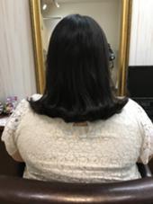 外ハネミディアム 美容室 AER所属・松木俊介のスタイル
