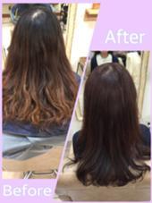 モーブ系の春色カラー hair+makeBANYAN所属・小野純奈のスタイル