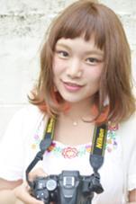 インナーカラー✖︎オレンジ hair&nail FUNTAS所属・大山慎矢のスタイル