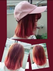ブリーチ必須です!! ピンクグラデーション ALETTA HAIR PRODUCE(アレッタヘアプロデュース)所属・店長  高木美樹のスタイル
