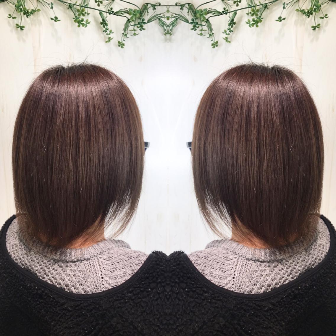 #ミディアム #パーマ 髪を綺麗に伸ばしたい方へ…プレミアム縮毛でサラツヤな髪へ💇✨