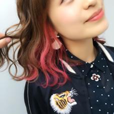 ポイントデザインカラー✨ マニキュアで色落ちも可愛いです♪ Hair Resort Lino所属・Mai.のスタイル
