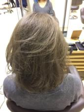 LA風Wホワイティーアッシュ系カラー (ブリーチ2回) hair&makeZEST所属・中野稜平のスタイル