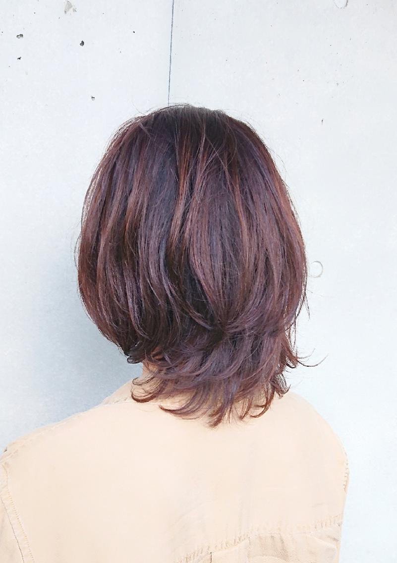 #ミディアム #パーマ 根元中間を縮毛矯正して、毛先をデジタルパーマしました! 乾かすだけで形になる楽にスタイリングできるヘアスタイルです!