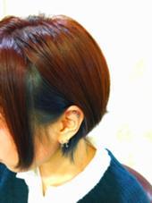 赤みベースにインナーカラーでモードネイビー ibrel所属・小柳尚賢のスタイル