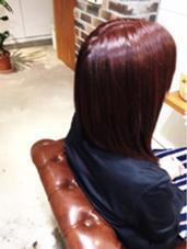 今季注目ののベリーピンクでツヤ感を♪ MARIO HAIR DESIGN所属・杉本雄志のスタイル