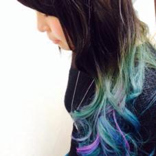マーメイドブルーのグラデーションにラベンダーでアクセントを hair&make POSH   新宿所属・佐々木敬也のスタイル