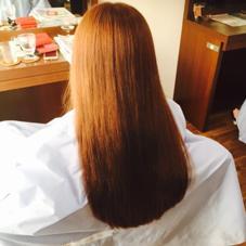 ピンクベージュのツヤツヤカラーに さらにトリートメントでさらっさらー♡ HairWork's r.Pixy所属・山田優華のスタイル