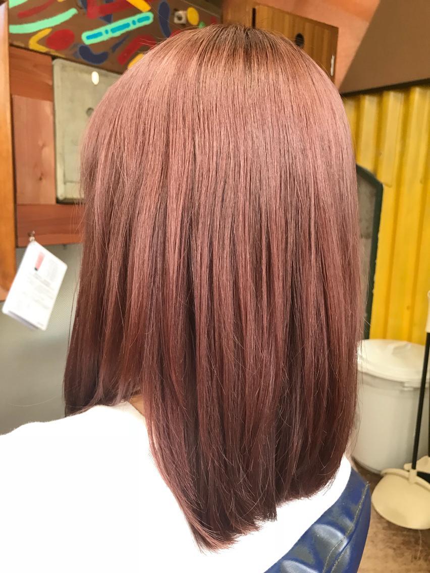 #ミディアム ⭐︎ダブルカラー⭐︎ 色の抜けやすいピンク色を濃く入れさせていただきました!