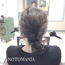 ご希望の方はカットやカラーのついでに 仕上げでヘアアレンジをさせていただきます♡ NOTOMANIA所属・イシハラアズサのスタイル