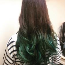 マーメイドブルーのブリーチオンカラー hair&make POSH   新宿所属・佐々木敬也のスタイル