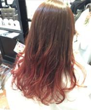 毛先ブリーチのグラデーションカラー。  グラデーションカラーの鉄板です^o^ hair salon dot. tokyo所属・海野拓郎のスタイル